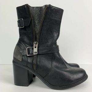 Torrid Studded Buckle Heeled Bootie